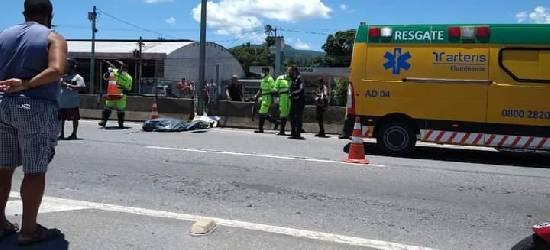 Motociclista morre em acidente na BR-101 em Tanguá