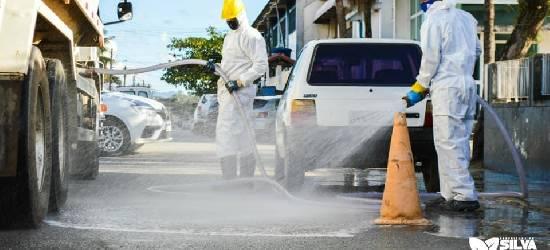 Ruas e espaços públicos passam por desinfecção em Silva Jardim